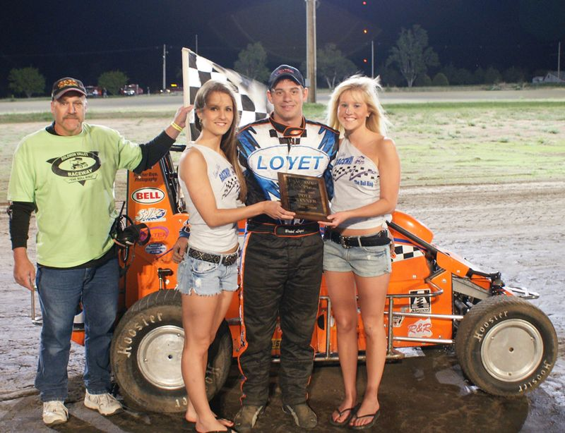 Brad Loyet 5/15/2009 Feature Winner USAC SMRS Midget Solomon Valley Raceway Beloit, Ks