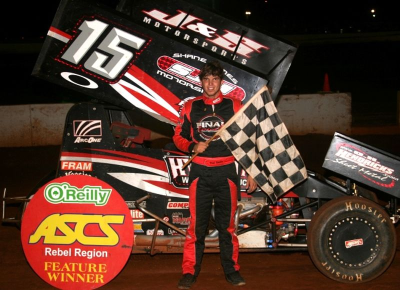 Brad Bowden of Hernando, MS, nailed down his first career ASCS feature win