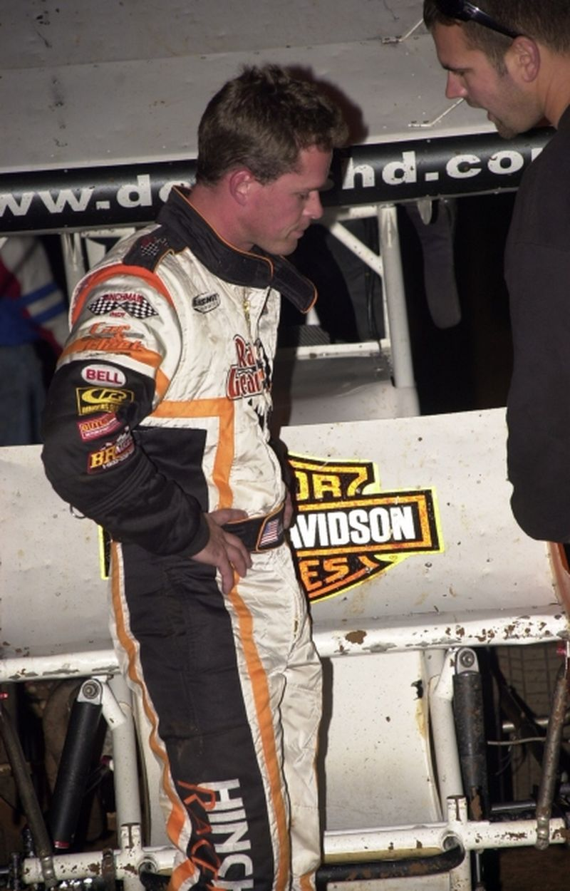 The agony of defeat, a disappointed Shane Stewart finished second at STN