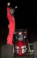 Robert Ballou celebrates his third consecutive O'Reilly Sprint Bandits Win
