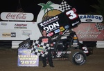 Shane Stewart won Thursday night's 25-lap