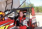 Erin Crocker in the DTRS Sprint Car