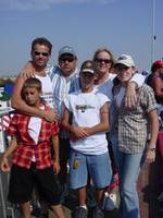 Cody & Mason with Family at races