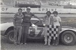 my favorite late model driver, chargin charlie swartz with a win at eldora 1979.
