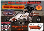 3rd Annual Mike Hensel Memorial 5K to Win    8/15/15 Fremont Speedway  -  BOSS