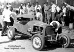 George Ponting's Ford six roadster at Berea 1948