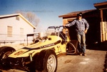 Me & my new 'toy'. Bought from Gail Allen, Amarillo, Tx. Jan 1981. Sold to Marvin Fillip, San Angelo,Tx.1982. Marvin's son Chet qualified for the Indy 500 in '82 driving the #39 Cirlcle Bar Truck Corral, Ford Gurney Eagle.