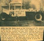 1961 - Rebuilt 24 after crash at Oakley, Kansas
